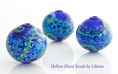 Hollow Floral Beads by Liliana