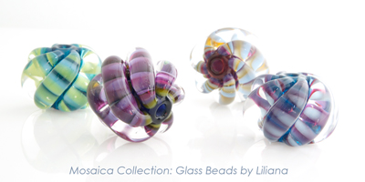 Mosaica Collection: Focal Beads by Liliana